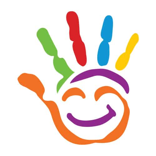 rainbow hand logo