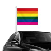Rainbow Window Clip-on Flag