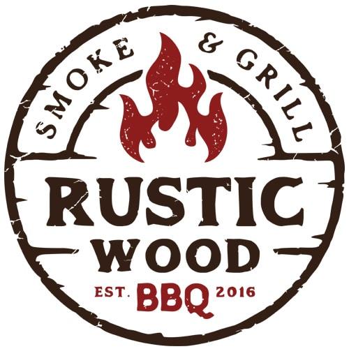 rustic wood logo