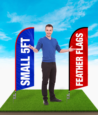 small 5ft feather flags sale