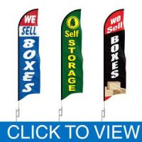 Storage Feather Flags in Stock