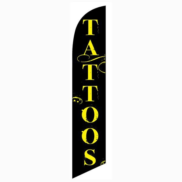 Our most popular outdoor advertising Tattoos feather flag