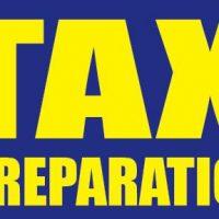 Tax Preparation Sign Banner 4X8