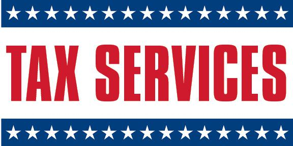 Tax Services Sign Banner