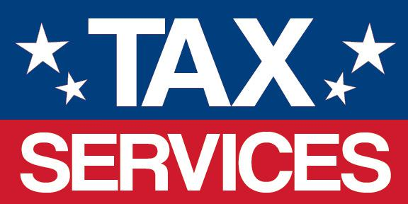 Tax Services With Stars 4x8