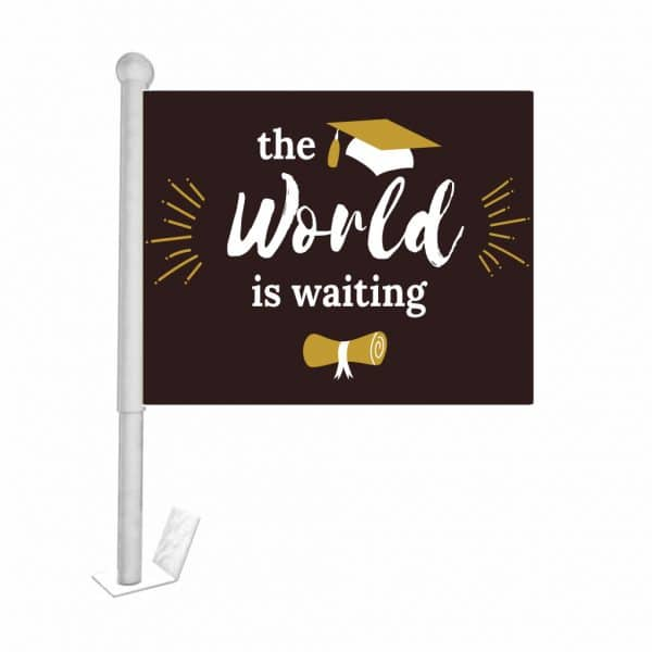 the-world-is-waiting-car-flag-graduation