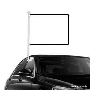 Solid white Window Clip-on Flag